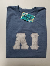 Load image into Gallery viewer, Custom Marble Letters - Short Sleeve Crew Neck T-Shirt - Gildan