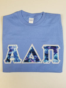 Custom Galaxy Letters - Short Sleeve Gildan Crew Neck T-Shirt