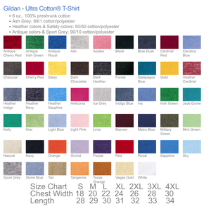 Fashion Fabrics Short Sleeve Crew Neck T-Shirt  - Gildan