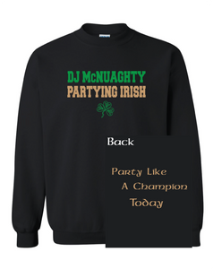 Partying Irish Crew Neck Sweatshirt