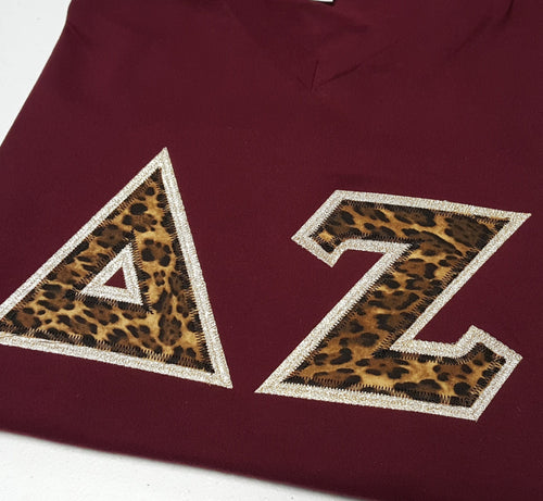 Custom Greek Letters Shirt. Delta Zeta