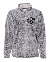 Load image into Gallery viewer, Curly Monogrammed Sherpa 1/4 Zip - Women's Fit