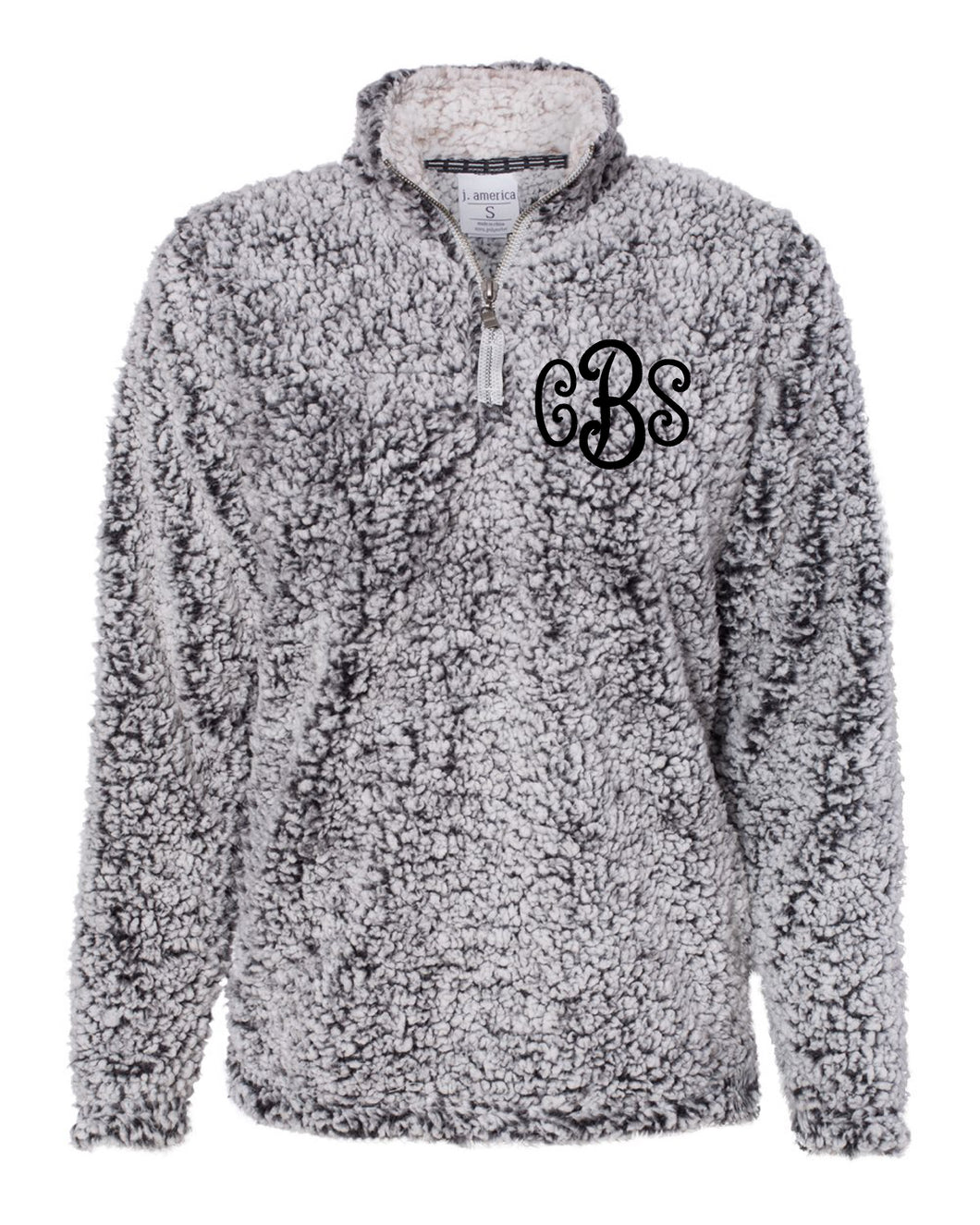 Curly Monogrammed Sherpa 1/4 Zip - Women's Fit