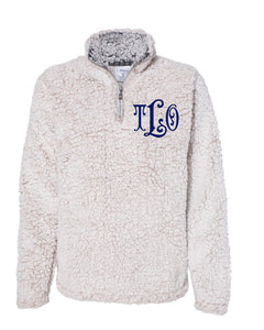 Monogrammed Sherpa 1/4 Zip - Women's Fit
