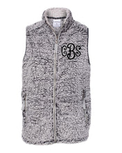 Load image into Gallery viewer, Curly Monogrammed Sherpa Vest - Womens