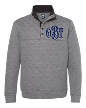 Load image into Gallery viewer, Monogrammed Quilted Snap Pullover