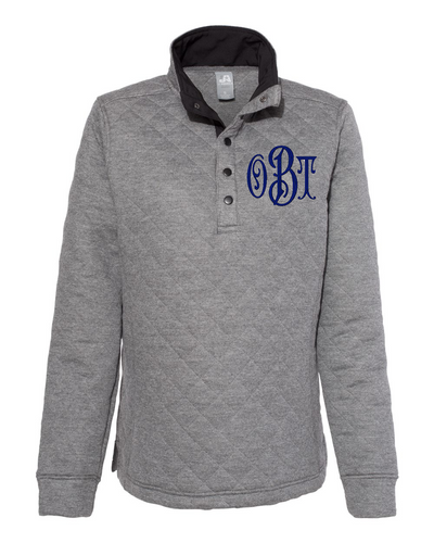 Monogrammed Quilted Snap Pullover Women's Fit