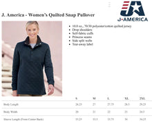 Load image into Gallery viewer, Curly Monogrammed Quilted Snap Pullover Women's Fit