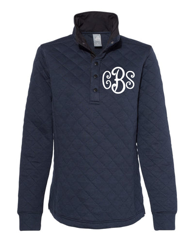 Curly Monogrammed Quilted Snap Pullover Women's Fit