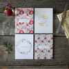 Personalized Box Set - Kiss from a Rose - Floral Set of 8 Assorted Cards