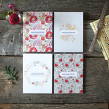 Kiss from a Rose - Floral Set of 8 Assorted Cards - Valentines Edition