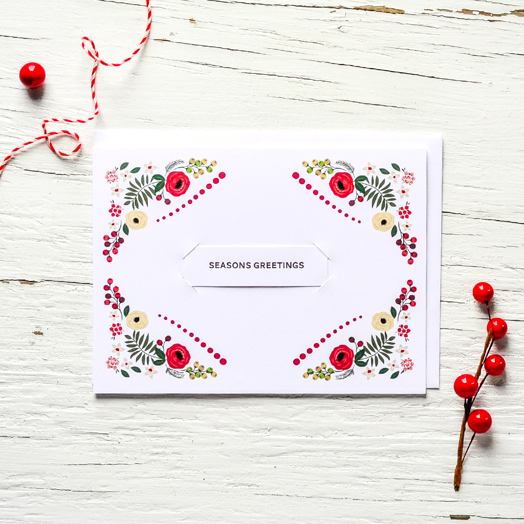 Holly Jolly - Holiday Set of 8 Cards - Assorted or choose one design