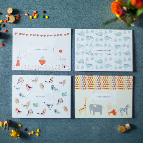 Geo - Geometric Set of 8 Assorted Cards
