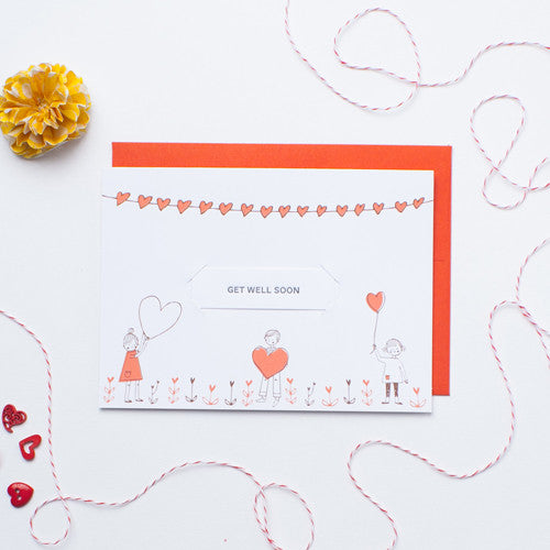 Love Balloons - Single Card