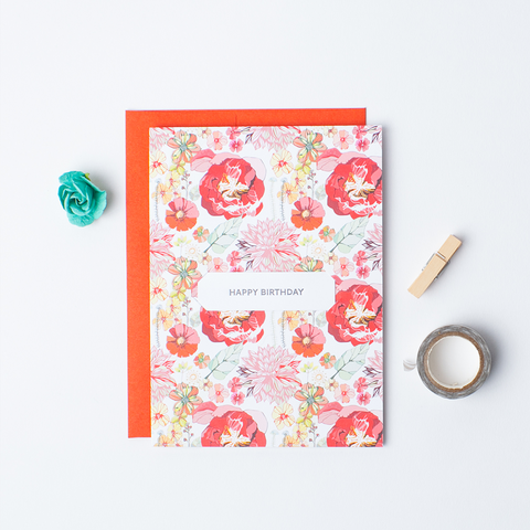 Floral Wreath - Single Card