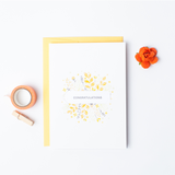 Golden Bouquet - Single Card