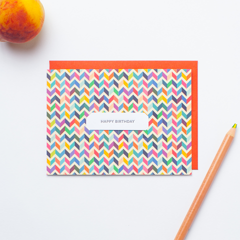 Vintage Chevron - Single Card