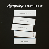 Sympathy Greetings Set