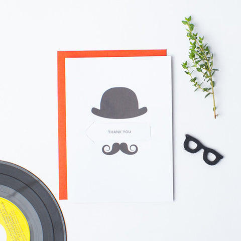 Cowboy Stache - Single Card
