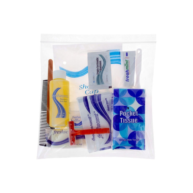 15 Piece Bulk Hygiene Kits for Emergency Supplies, Charity - Wholesale Travel Size Toiletries Case of 48