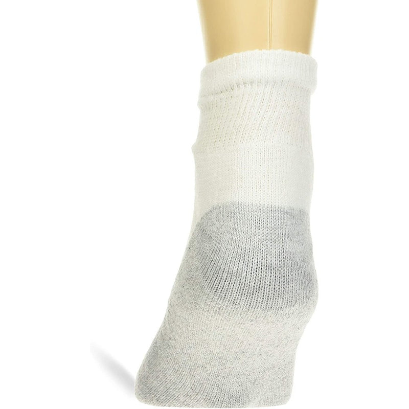 180 Pairs - Ankle Bulk Socks Athletic Size 10-13 in White with Grey