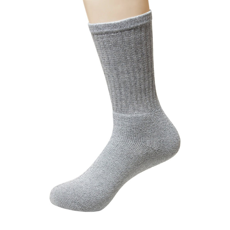 Wholesale Socks Men's Size 9-11 Crew Cut Athletic in Grey - Bulk Case of 120 Pairs