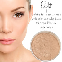 Light - Full Coverage Matte Loose Mineral Foundation - Bulk