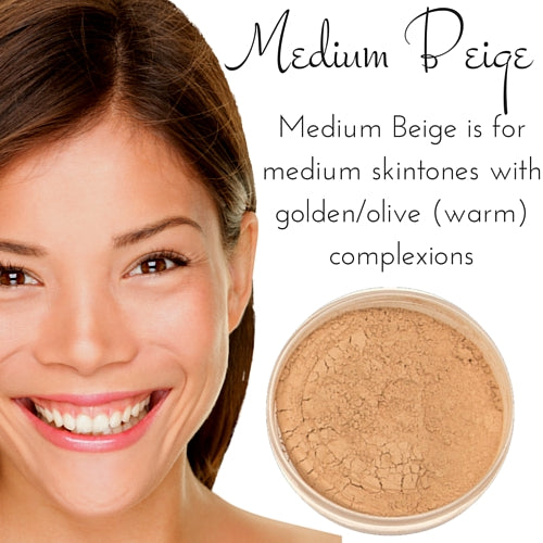 Medium Beige - Full Coverage Matte Loose Mineral Foundation - Ready to Label