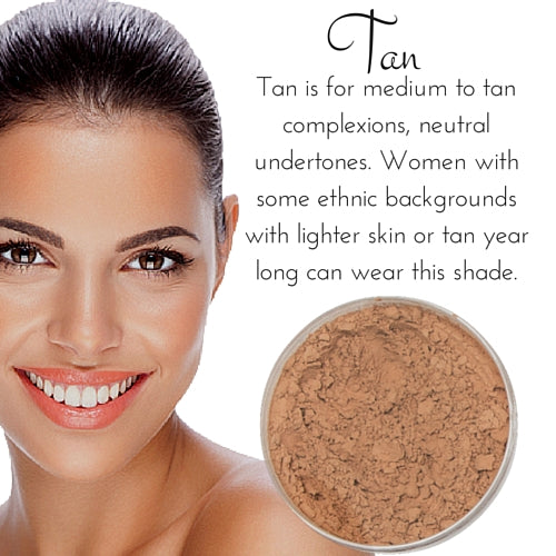 Tan - Full Coverage Matte Loose Mineral Foundation - Bulk