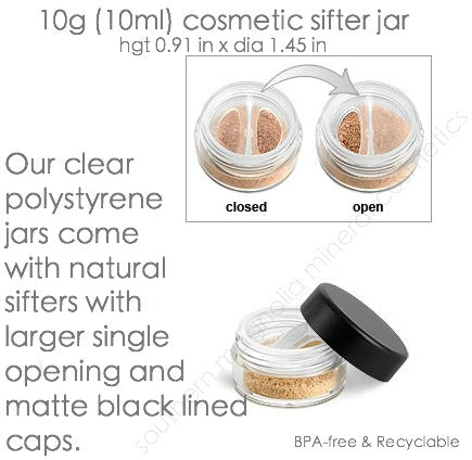10 Gram Empty Click & Turn Rotating Sifter Cosmetic Makeup Jar Container