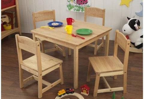 Farmhouse Table + 4 Chairs by KidKraft - FREE SHIPPING!