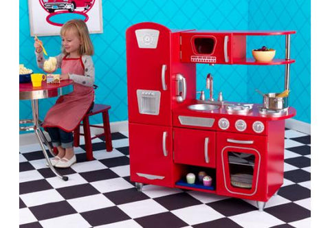Red Vintage Play Kitchen by KidKraft - FREE SHIPPING!