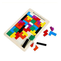 Children Wooden Puzzles - Educational Tetris Game