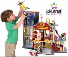Deluxe Fire Rescue Set Toy Fire Station Kidkraft, KidKraft, Toys, Train Sets