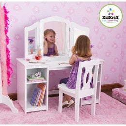 KidKraft Deluxe Vanity & Chair, KidKraft, Desk and Chair, Table and Chair Sets