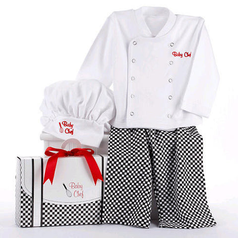 """Big Dreamzzz"" Baby Chef Three Piece Layette in Culinary Themed Gift Box, Baby Aspen, Baby Gifts, Boys and Girls, Outfit"