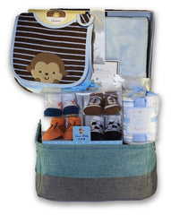 NEW! Personalized Posh Baby Boy Gift Basket