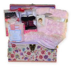 NEW! Personalized Baby Girl Gift Trunk
