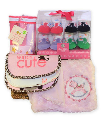 NEW! Personalized Baby Girl Gift Basket