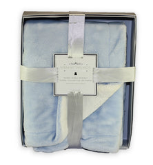 Personalized Extra Plush Blue Blanket with Gift Box