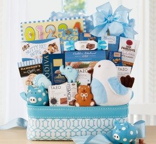 OH BABY-BLUE BASKET - FREE SHIPPING!