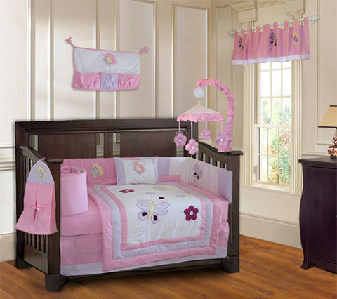 Butterfly Dreams Crib Bedding Set & Nursery Decor - FREE SHIPPING!