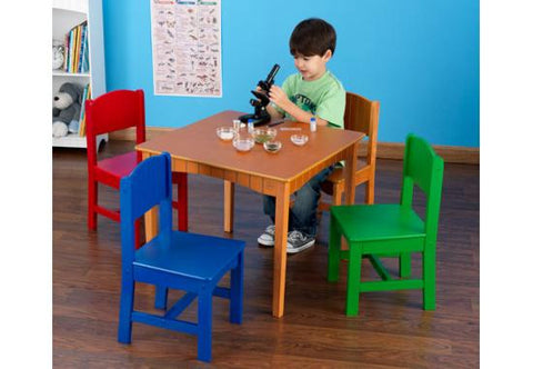 Nantucket Table + 4 Chairs in Primary Colors - FREE SHIPPING!