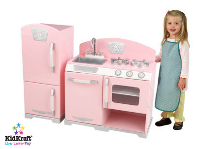 Pink Retro Play Kitchen by KidKraft, KidKraft, Toys, Play Furniture