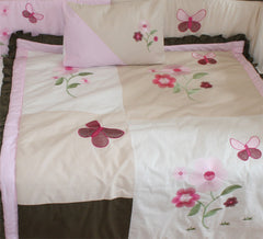 Pink Blossom Crib Bedding Set & Nursery Decor, BeddingHut, Bedding, Crib Bedding