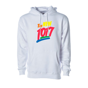 "Neon Pink ""The New 1017"" White Hoodie"