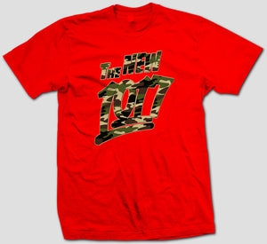 "Camo  ""The New 1017"" Red T- Shirt"