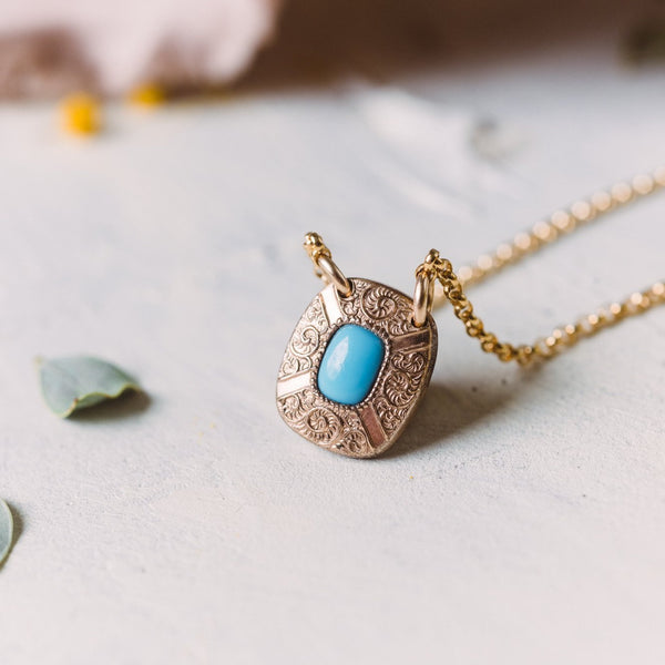 Tallie Turquoise Cuff Pendant