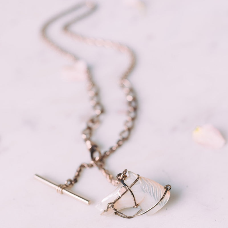 Eleanore Equestrian Toggle Necklace