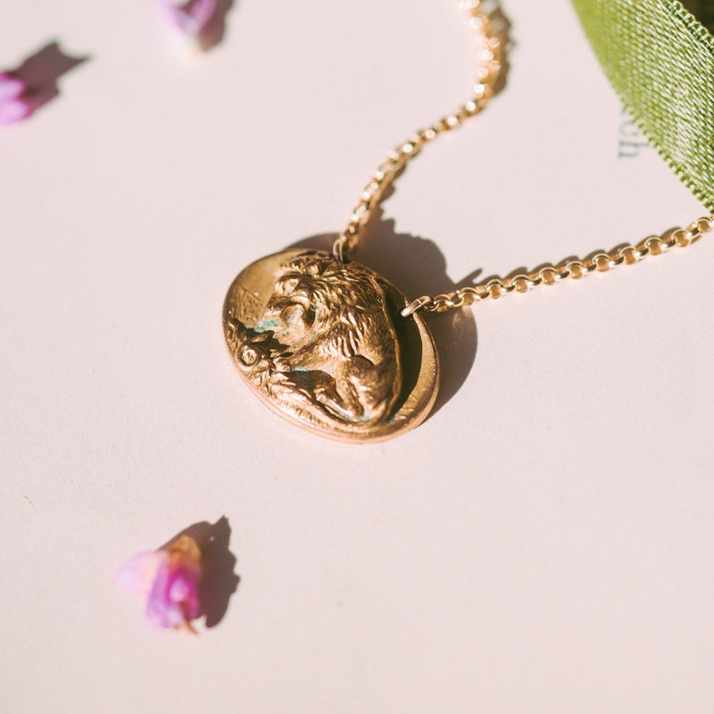 Lion & Serpent Link Necklace